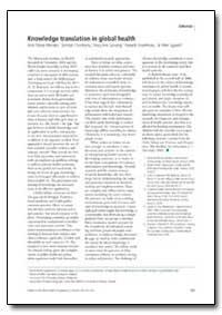 Bulletin of the World Health Organizatio... by Ariel Pablos-Mendez