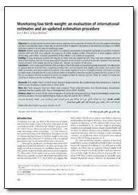 Bulletin of the World Health Organizatio... by Ann K. Blanc