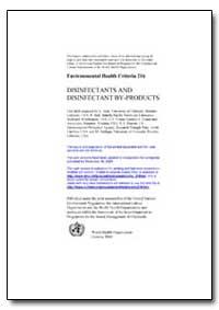 World Health Organization : Environmenta... by G. Amy