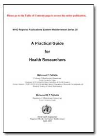 World Health Organization : (Emro) Regio... by Mahmoud F. Fathalla