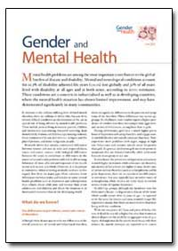 Gender, 2002, A85573 by World Health Organization