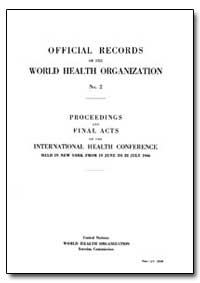 Historical : Official Records, No. 2E by World Health Organization