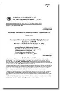 World Health Organization : Year 1982, W... by Expert Committee On Biological Standardization