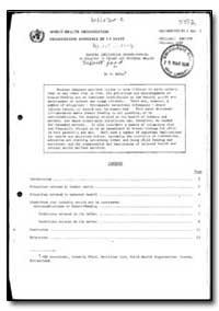 World Health Organization : Year 1985-86... by M. Behara, Dr.