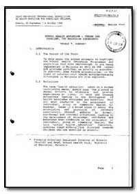World Health Organization : Year 1985-86... by Thomas T. Oommen