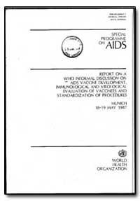 World Health Organization : Year 1987 ; ... by Gunnel Bieberfeld
