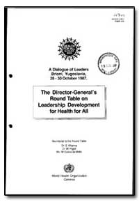 World Health Organization : Year 1988 ; ... by S. Khanna, Dr.