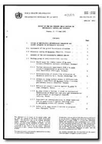 World Health Organization : Year 1992 ; ... by T. Fujikura, Dr.