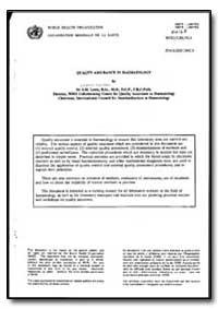 World Health Organization : Year 1992 ; ... by S. M. Lewis, Dr.