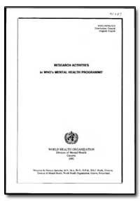 World Health Organization : Year 1992 ; ... by Norman Sartorius