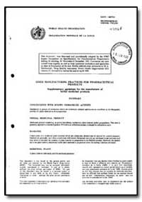 World Health Organization : Year 1993 ; ... by Expert Committee On Specifications for Pharmaceuti...