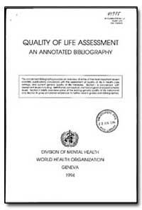 World Health Organization : Year 1994 ; ... by N. K. Aaronson