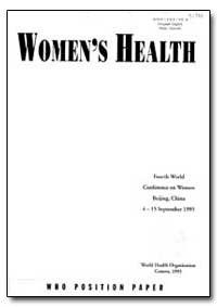 World Health Organization : Year 1995 ; ... by Hiroshi Nakaiima, Dr.