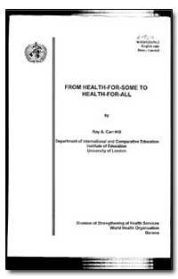 World Health Organization : Year 1996 ; ... by Roy A. Carr-Hill