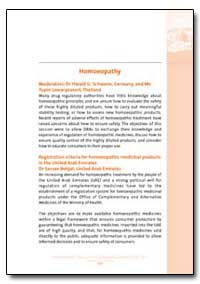 World Health Organization : Year 2003 ; ... by Harald G. Schweim, Dr.
