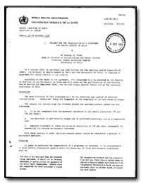 World Health Organization : Report on a ... by Rodrigo B. Prado, Dr.