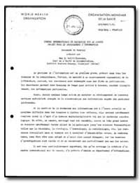 World Health Organization : Report on a ... by Wolff-Terroine