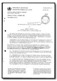 World Health Organization : Report on a ... by Myron G. Schultz
