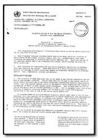 World Health Organization : Report on a ... by M. J. Krawczynski