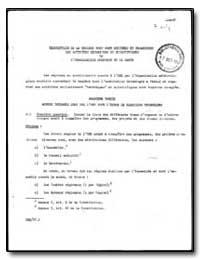 World Health Organization : Report on a ... by Loreanisation Mondzale De La Sante