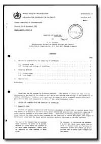 World Health Organization : Report on a ... by V. N. Vioukov