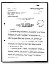 World Health Organization : Report on a ... by J. F. Copplestone, Dr.