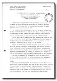 World Health Organization : Report on a ... by Vladimir Yanda