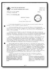 World Health Organization : Report on a ... by Luiz Carlos Galvso Lobo, Dr.