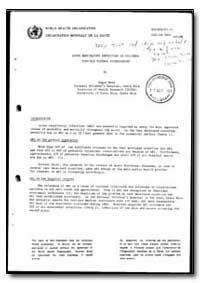 World Health Organization : Report on a ... by Edgar Mohs