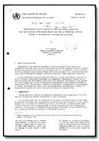 World Health Organization : Report on a ... by R. M. Douglas