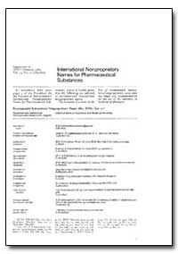 International Non-Proprietary Names : In... by World Health Organization