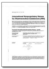 International Non-Proprietary Names : Pr... by World Health Organization