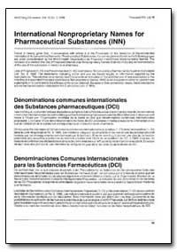International Non-Proprietary Names : Pr... by World Health Organization