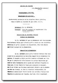 Health Organisation, Malaria Comission; ... by A. Lutrario, Dr.