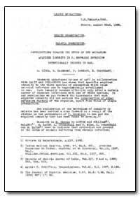 Health Organisation, Malaria Comission; ... by M. Ciuca, G. Badenski