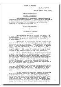 Health Organisation, Malaria Comission; ... by F. Lorincz