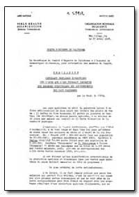 Health Organisation, Malaria Comission; ... by F. J. Ciuca