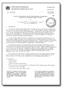 Health Organisation, Malaria Comission; ... by J. A. Najera, Dr.