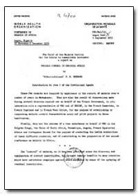 Health Organisation, Malaria Comission; ... by P. M. Bernard