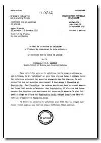 Health Organisation, Malaria Comission; ... by P. C. C. Garnham, Dr.
