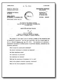 Health Organisation, Malaria Comission; ... by J. R. Busvine, Dr.