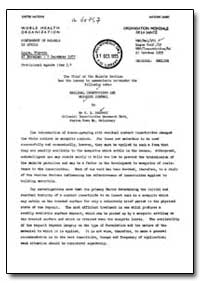 Health Organisation, Malaria Comission; ... by A. B. Hadaway
