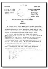 Health Organisation, Malaria Comission; ... by D. M. Blair, Dr.