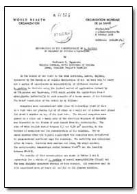 Health Organisation, Malaria Comission; ... by E. Tngureanu, Prof.