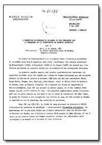 Health Organisation, Malaria Comission; ... by A. J. W. Spitz, Dr.