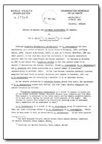Health Organisation, Malaria Comission; ... by Don E. Eyles, Dr.