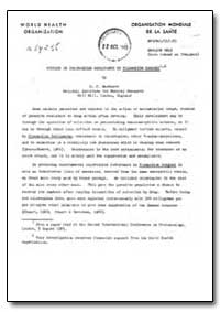 Health Organisation, Malaria Comission; ... by D. C. Warhurst