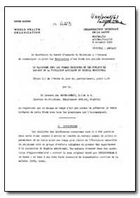 Health Organisation, Malaria Comission; ... by Leonard Jan Bruce-Chwatt, Dr.