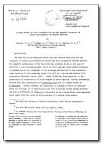 Health Organisation, Malaria Comission; ... by M. A. C. Rickman