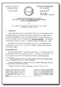 Health Organisation, Malaria Comission; ... by A. R. Zahar